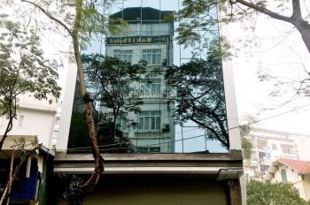 Cần cho thuê tòa nhà mặt phố Duy Tân, Dịch Vọng Hậu, Cầu Giấy. DT 130m2 x 6T + 1H, MT 8m, 110tr/th