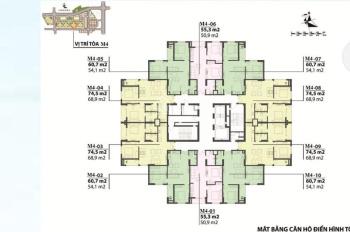 Chính chủ bán căn 10 tòa M4 diện tích 54m2, ban công Đông Nam