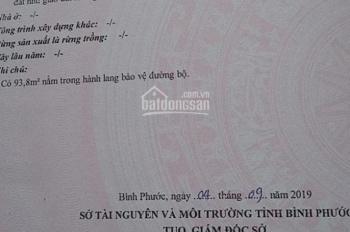 Bán lô đất Chơn Thành, Bình Phước sổ sẵn 1701 m2 giá 190 triệu/ m ngang