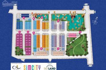 Nhà phố Sim City, diện tích 5x16m, xây 1 trệt 3 lầu, giá 4 tỷ 3