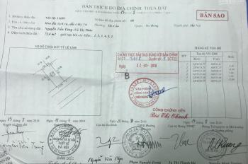 Cần bán đất dịch vụ Hà Trì, phường Hà Cầu, Hà Đông. 75.4m2, giá 73tr/m2