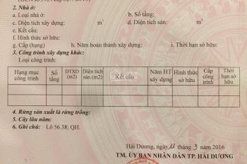 Chính chủ bán lô đất 56.38 Tây Nam Cường S 72m2, giá 21.5 tr/m2