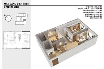 Chuyển nhương lại căn hộ 72m2, giá 1.650 tỷ bao sổ bao sang tên căn đẹp tầng đẹp, 0966.858.601