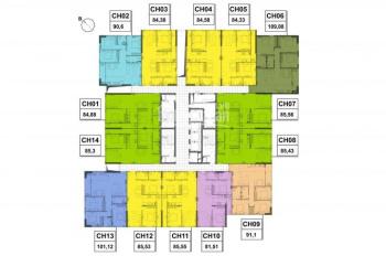 Chung cư Viễn Đông Star, bán suất ngoại giao diện tích 91m2 căn góc Đông Nam, giá 24tr/m2