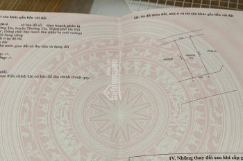 Chính chủ cần bán mảnh đất 75m2 phân lô ở thị trấn Thường Tín, Hà Nội