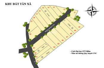 Chính chủ có 5 mảnh đất diện tích 120m2. Ngay gần ĐH FPT, sát đường vành đai CNC Hòa Lạc