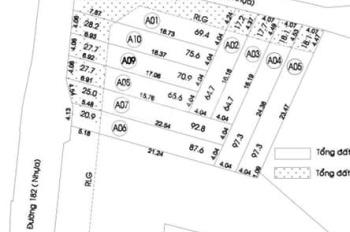 Đất Quận 9, phường Tăng Nhơn Phú A, Q9, TP.HCM, 2 Mặt tiền đường 182 và đường Số 3 - Lã Xuân Oai