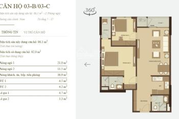 Cần bán căn hộ tại Mandarin Tân Mai diện tích 86m2 2PN 2WC, 2,4 tỷ