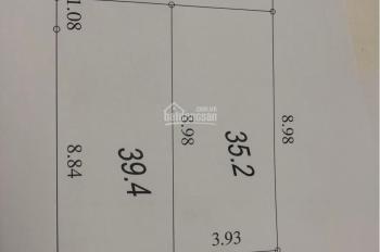 Bán đất TĐC Xóm Lò 30m ra đường ô tô tránh nhau DT 40m2 Tây Bắc, giá 1,5 tỷ