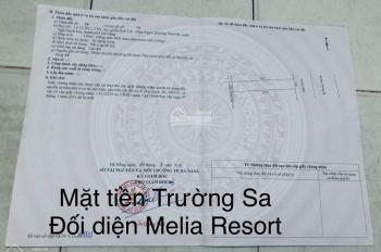Bán lô đất đường Trường Sa kề góc 150m2 đối diện Melia Resort, giá tốt. LH: 0935.843.114