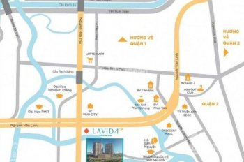 Bán căn hộ Lavida Quận 7 loại 2 phòng ngủ 2 WC - 66m2. Giá tốt chốt nhanh 3 tỷ 100, LH 0931 777 200