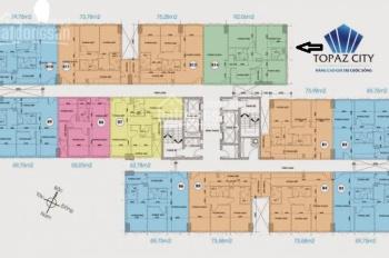 Cần bán căn hộ Topaz City căn góc 3 phòng ngủ, tầng cao nội thất cơ bản