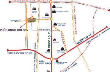 Bán đất nền khu đô thị Phúc Hưng Golden 450tr/nền 120m2 (trung tâm Chơn Thành, Bình Phước)