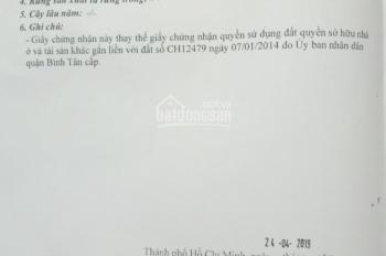 Bán đất đường Mã Lò, DT: 13m x 38.5m, sổ hồng riêng. Giá: 17.5 tỷ