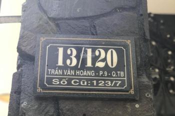 Chính chủ bán nhà 1 trệt 1 lửng 3 lầu -  2 mặt tiền hẻm 13 Trần Văn Hoàng, phường 9, Tân Bình