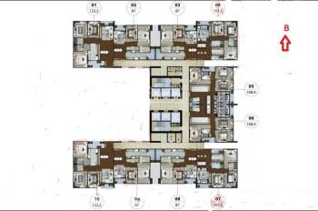 Bán căn góc số 10 N01T5 Ngoại Giao Đoàn, tầng trung đẹp, 122m2, 3PN, hướng BC Nam, 36.5 triệu/m2