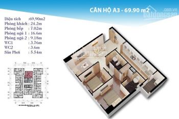 Sang nhượng căn hộ 70m2, tầng thấp của chung cư Topaz City quận 8, view hồ bơi. Sang tên 2,13 tỷ