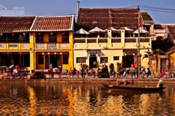 Bán nhà mặt tiền Nguyễn Phúc Chu, view sông Hoài Tp Hội An, 1 tầng x 110m2 khu phố đi bộ sầm uất