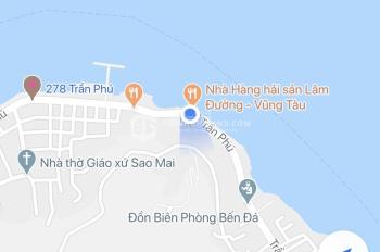 Bán lô đất đẹp mặt tiền Trần Phú, ngang 27.5m, lưng tựa núi mặt hướng biển ngay bến Sao Mai