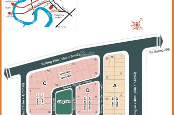 Cần bán nhà dự án Hà Đô trung tâm Q2, vị trí đẹp gần sông Sài Gòn, DT 8x17,5m giá 15 tỷ