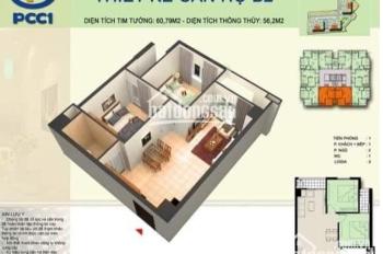 Bán căn hộ 62,5m2 PCC1 Complex Hà Đông. Giá chỉ 9xx tr