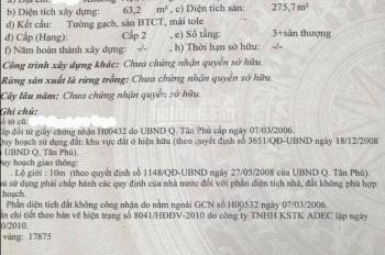 Bán nhà đường Khuông Việt, DT: 4m x 20.5m, 3.5 tấm, sổ hồng riêng. Gía: 9 tỷ