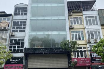 Cho thuê nhà mặt phố Trần Quốc Hoàn, 100m2 * 8 tầng có hầm, thông sàn thang máy. Giá 160 triệu/th