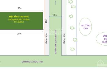 Cho thuê mặt bằng - mặt đường mới khu trường đua - Đường Lê Đức Thọ