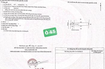 Lô đất gần KCN Becamex, Chơn Thành,Bp Nằm ngay trung tâm giá chỉ 630tr. Sổ cầm tay