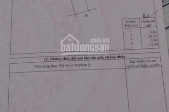 Chính chủ bán nền 5x24m, Hưng Lộc, Thống Nhất, Đồng Nai, giá 750 triệu, LH : 0846339579