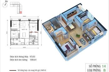 Cần tiền, nhượng lại gấp căn góc 3PN, cửa Tây Nam tòa CT2 Eco Green City, giá tốt gần 28tr/m2