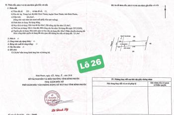 Đất sổ hồng cầm tay Chơn Thành, Bình Phước TT 350tr ngay trung tâm hành chính huyện, LH 0387405095