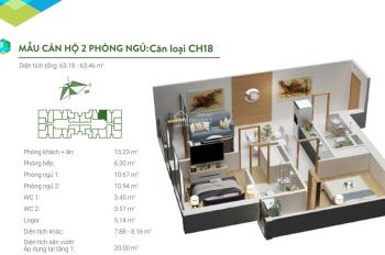CC bán căn chung cư mã 18 gồm 2PN - 2WC tòa A dự án Green Bay Garden HaLong. LH: 0916.913.916