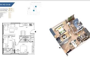Tôi bán gấp căn hộ chung cư Hà Nội Homeland, căn 04 tầng cao, CT1B, DT: 61m2, giá: 1.5x tỷ tiểu học