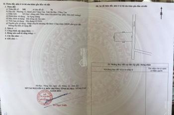 Chính chủ cần bán đất hẻm đường 3/2, phường 12, tp Vũng Tàu