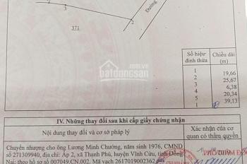 Chính chủ cần bán đất 825,5m2 tại Đoàn Thị Điểm, Vĩnh An, Vĩnh Cửu, Đồng Nai, LH 0978530431