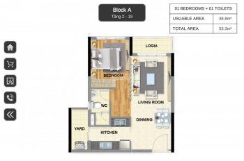 Cần bán 3 căn 53m2 giá tốt, mới thanh toán 15%, bank cho vay 70%. Tháng 6/2020 nhận nhà