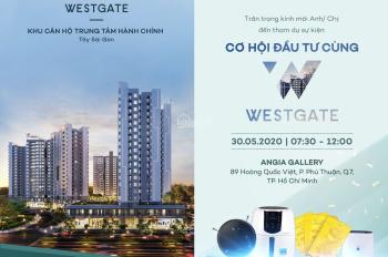 3 chính sách ưu đãi trong tháng 5 khi sở hữu dự án Westgate. Căn hộ trung tâm hành chính Bình Chánh