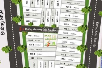Mở bán dự án Đất Nền Kênh Tân Hóa Đầm Sen, chỉ hơn 40 nền, giá chỉ từ 35tr/m2, SHR, Lh 0907931358