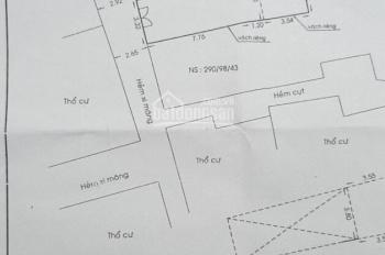 Nhà cấp 4 tiện xây mới đường Nơ Trang Long, phường 12, Bình Thạnh, gần 50m2, giá 3.6 tỷ