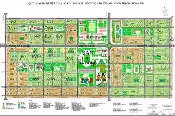 Bán gấp lô biệt thự đường 53m dự án XDHN, xã Long Thọ, Nhơn Trạch, DT: 510m2, LH: 0915 717 345.