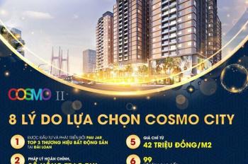 CĂNHỘ COSMO CITY MT NG THỊ THẬP Q7 CHỈ 30% NHẬN NHÀ + TẶNG FULL NỘI THẤT + CAM KẾT CHO THUÊ 20TR/TH