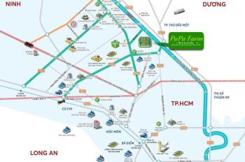 Đất nhà Vườn Củ Chi View Sông - Hàng hiếm - giá 1,8 triệu/m2
