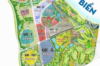 Cần bán cặp nền liền kề PK2 Nhơn Hội New City giá rẻ hơn CĐT. Áp lưng trục ShopHouse view biển