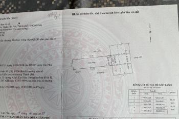 Bán đất khu số 23 đường Kênh Tân Hoá, Q. Tân Phú, 4x16m công nhận 64m2, GPXD trệt 3 lầu sân thượng