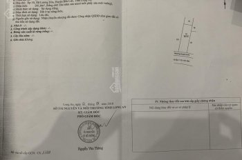 Bán đất xây trọ ấp 10 Lương Hòa, Bến Lức, đường bà Lý, 9x30m, thổ full, giá 1.9 tỷ. LH 0902793838