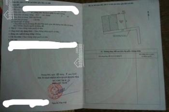 Bán đất 30.3m2 Hoàng Văn Thụ Hoàng Mai Hà Nội liên hệ 0966 786 226