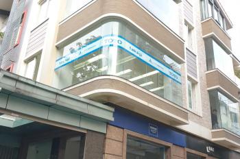 Cho thuê nhà MP Thọ Tháp, KĐT Dịch Vọng. DT 100m2, 4 tầng, mặt tiền 14m, thông sàn, giá 45 tr/th