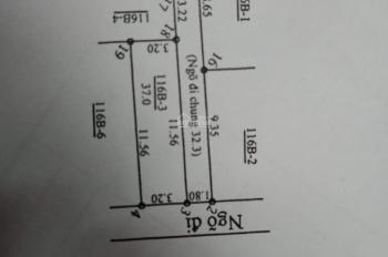 Chính chủ bán lô góc 37m2 giá 1,02 tỷ, sổ đỏ vĩnh viễn, ô tô đỗ cưa, cách Tố Hữu 1km. 0936488991