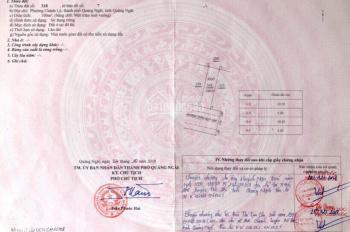 Cần tiền bán lô đất Trần Quý Cáp, Quảng Ngãi. LH: 0939761111